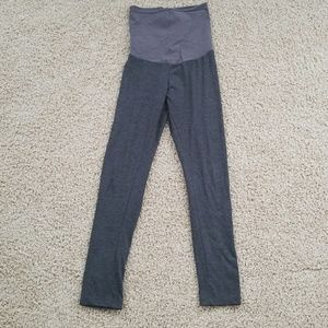 Motherhood Maternity gray full panel leggings
